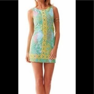 LILLY PULITZER Mila Sun Dance Shift Dress Sz 0